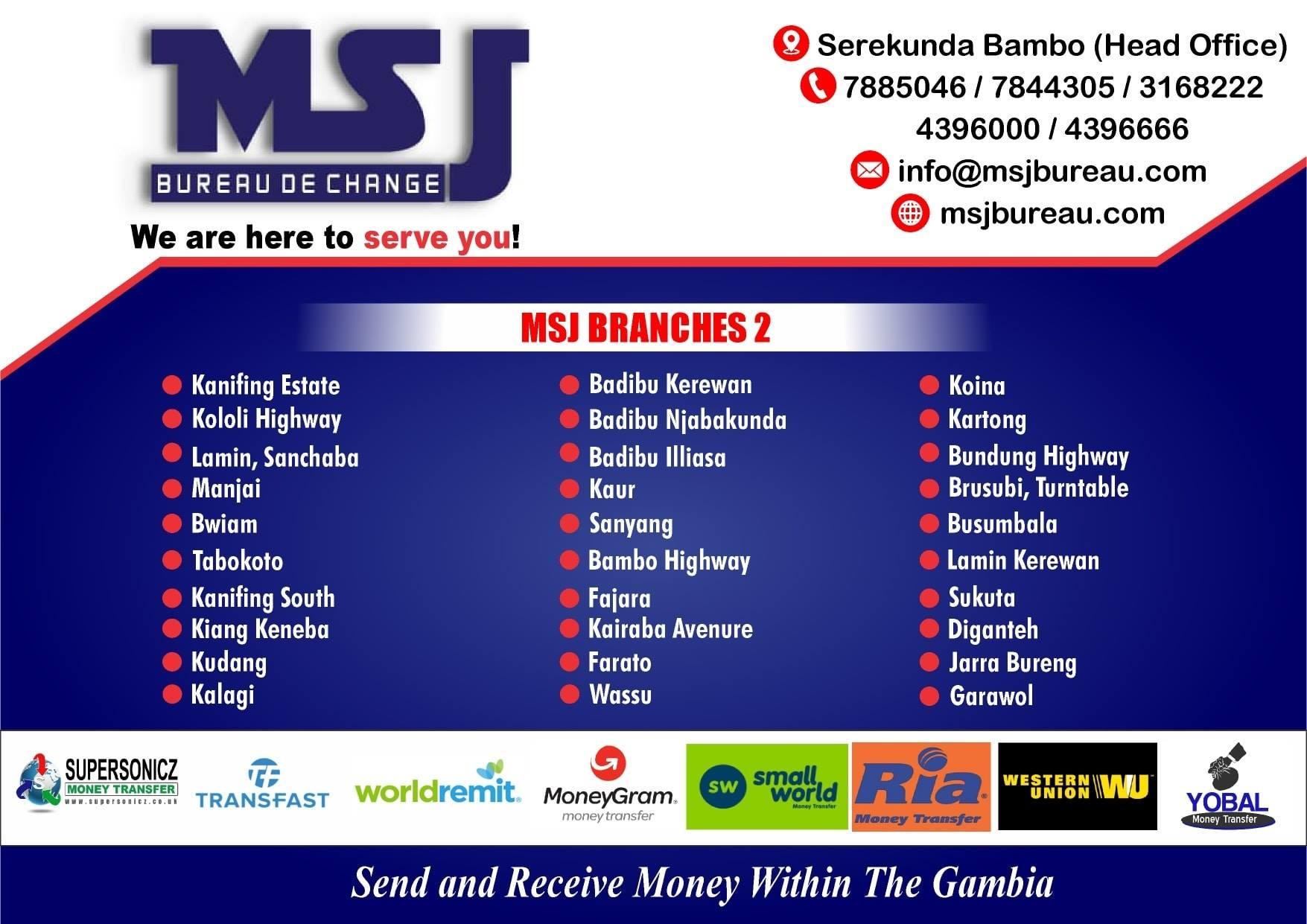 MSJ Bureau De Change Ltd