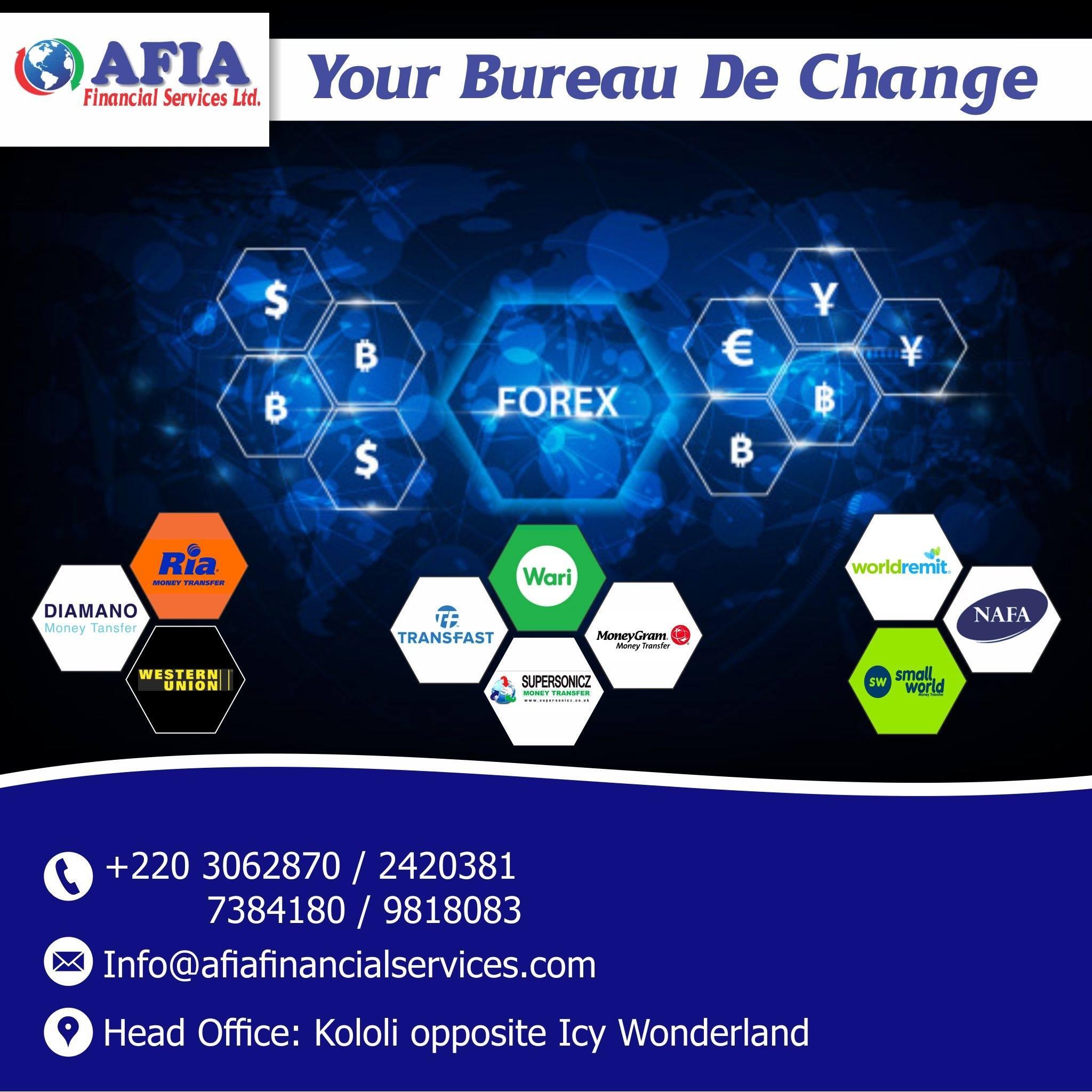 Afia Financial Services and Bureau De Change